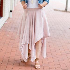 Steel Blue Handkerchief Skirt